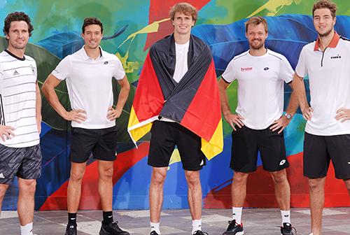 German team before ATP CUP. Artwork by: David 'MEGGS' Hooke; @houseofmeggs